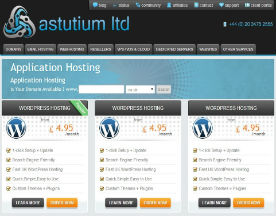 Astutium Website WordPress Hosting Screenshot